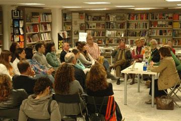 Javier Fornell en el encuentro con los lectores