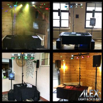 Alex Light and Sound Komplett Sets Musikanlage mieten Pfalz Gleisweiler