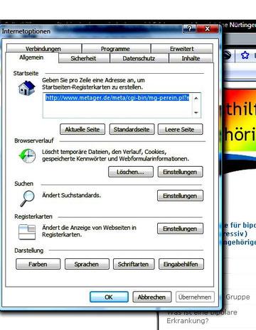 """Schritt 3: Beim Browserverlauf"""" das Feld """"Löschen"""" anklicken."""