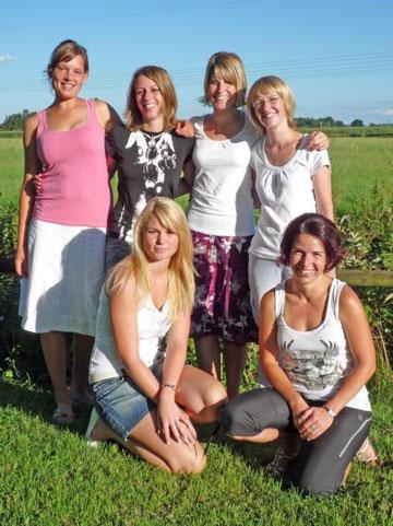 TGG-Damen auf dem Bild hinten von links: Vroni Schräfl, Sabine Schamberger, Anita Mair, Alena Heinrichs; vorne v.l.: Nicole Kuhn und Alexandra Eder