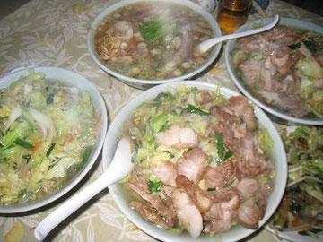 タンメン、鶏チャーシュータンメン、鶏チャーシューメンが勢ぞろい!