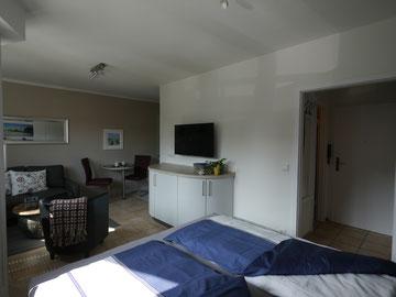 Bild: Die moderne 1-Zimmer-Ferienwohnung in der Residenz Meeresbrandung in Cuchaven Duhnen
