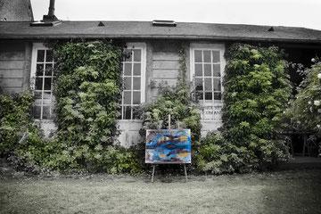 Exposition tableaux d'Isabelle Cornac à Courseulles