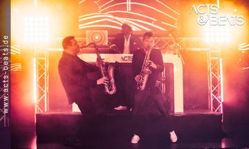 Zwei Show Saxophonisten NRW Firmenfeier