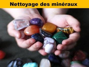 Nettoyage des minéraux- boutique minéraux - casa bien-être -