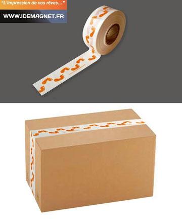 ruban adhésif personnalisé en acrylique, idéal pour les cartons d'emballage.