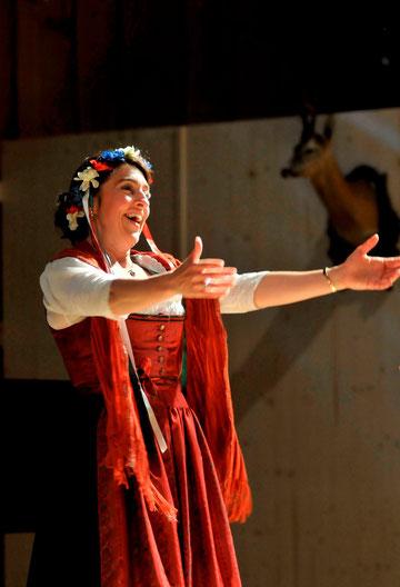 "Probenfoto: Amélie Sandmann als ""Felizitas, die Zigeunerprinzessin"", Kulturwald 2010"