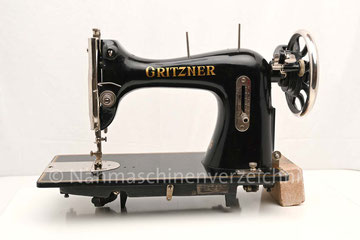 Gritzner VG, Flachbett, Fußantrieb, Anbau von Motor möglich, Hersteller: Gritzner-Werke, Durlach (Bilder: Nähmaschinenverzeichnis, I. Naumann)