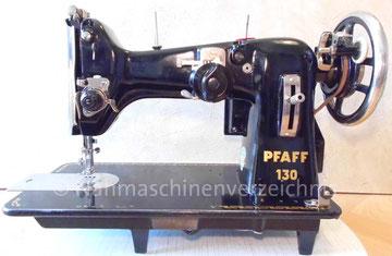Pfaff 130, ZZ-Flachbettnähmaschine, Hersteller: G. M. Pfaff AG, Kaiserslautern, Baujahr ca. 1951 (Bilder: I. Naumann, E. Smid und M. Obenaus)