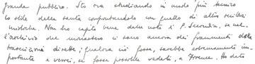 G. Pozzi, autografo