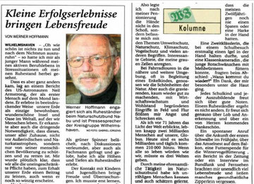 Aus  Wilhelmshavener Zeiting v. 28.4.2010