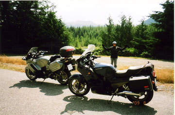 Touring with dad on Vancouver Island