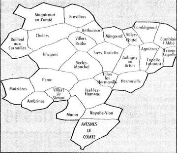 Les 27 communes de l'Abrébatie