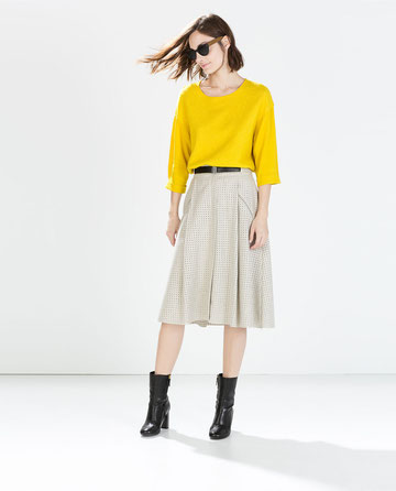Zara perforated skirt