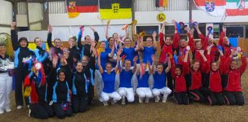 Rheinland-Pfalz beim C-Team-Cup: Hungenroth, Schwegenheim und Bodenheim mit Mannschaftsführerin Iris Schlobach
