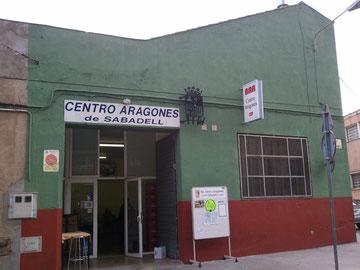 Actual sede social del Centro Aragones de Sabadell, en la C/Valentí Almirall, 29 - 31 de Sabadell