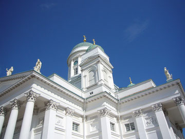 Zum Schluss noch der Dom, das Wahrzeichen von Helsinki (Finnland)