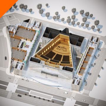 Render 3D para estudiante de arquitectura. Trabajo fin de Grado. Facultad en Guadalajara