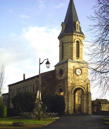 L'église de Saint-Christophe-de-Double reconstruite vers 1850