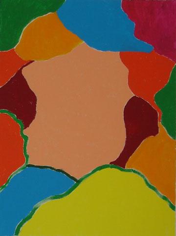 """§the unknown"""" Acrylic on canvas, 80 x 60 cm, price and availability on request, """"Die Unbekannte""""          Acryl auf Leinwand          80 x 60 cm          Preis und Verfügbarkeit auf Anfrage"""