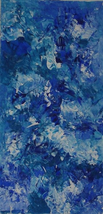 """""""under water"""", Acrylic on cancas, 100 x 50 cm, price and availability on request,""""Unter Wasser""""                  Acryl auf Leinwand                  100 x 50 cm                  Preis und Verfügbarkeit auf Anfrage"""