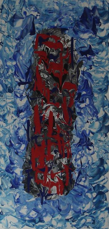 """new dimension"", Arcrylic on canvas, 100 x 50 cm, price and availability on request, ""Neue Dimension""              Acryl auf Leinwand              100 x 50 cm              Preis und Verfügbarkeit auf Anfrage"