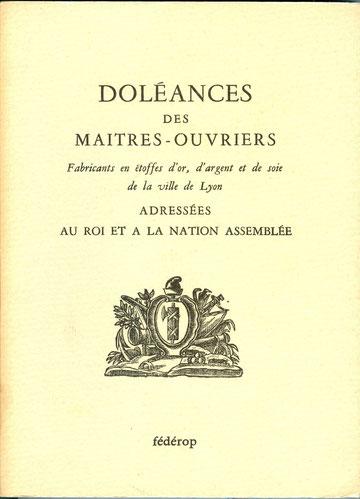 cahiers de doléances pour les Etats généraux de 1789