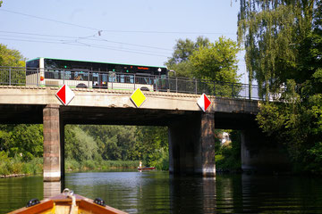 Havelbrücke in der Stadt Brandenburg