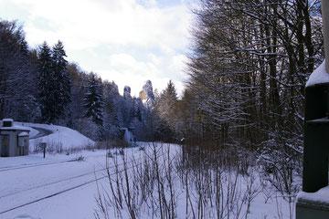 Blick Richtung Steinbruch m. Kalkwerk