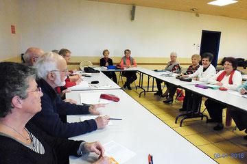 Atelier mémoire du club de Saintes dans sa nouvelle salle à la MDA