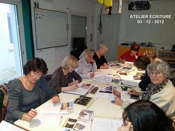 Ecriture avec Françoise Lacoste 3-12-2012