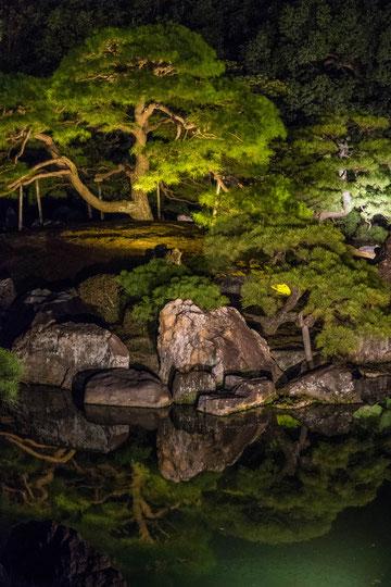 京都ライトアップイベント「京の七夕」二条城会場「二之丸庭園」