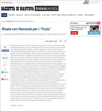Gazzetta di Mantova. 19 dicembre 2014