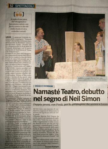 Provincia di Lecco. 11 marzo 2011