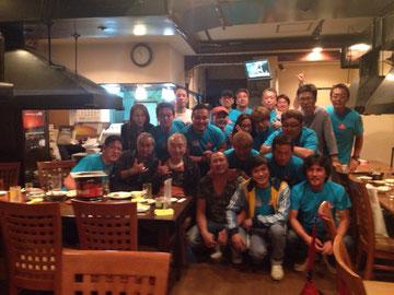 チャリティ フェスタ2014 打上げ…41会メンバーとKAJAさんほか出演者