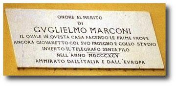 Targa a Marconi