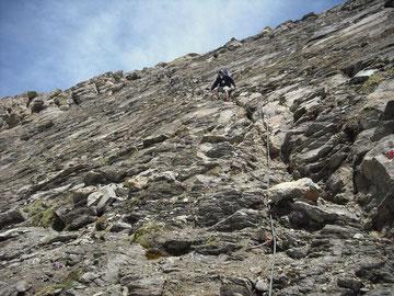 Schrofengelände an der Südwestflanke des Kempsenkopfs (3090m) am Hohen Tenn im Abstieg zur Fürthermoaralm