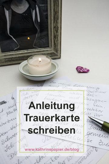 Trauerkarte schreiben persönlich Beispiele, Kerze, Bild, Stift, Pinterest