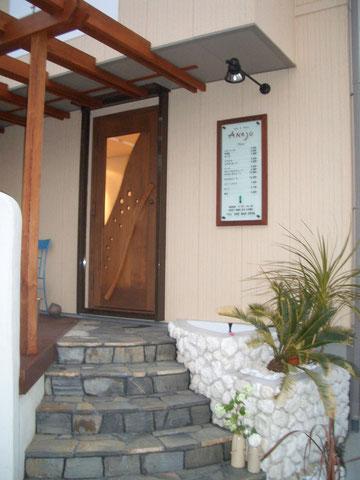 店舗 玄関ドア 木製