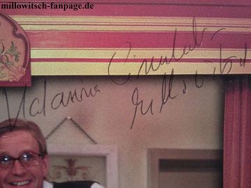 Katarina Millowitschs Unterschrift auf einem Programmheft, 2008