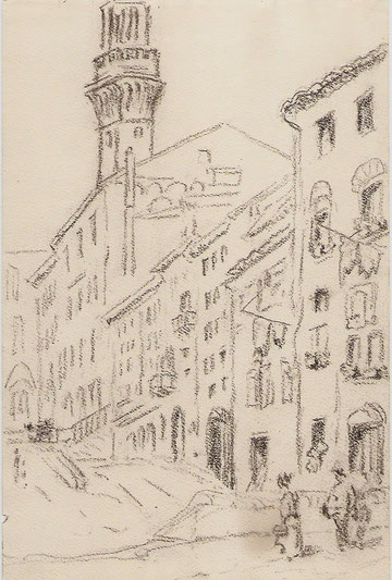 Sienne, vue de la Piazza del Campo.