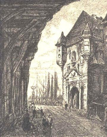 La Lieutenance à Honfleur.