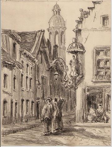 Rue des Etuves à Anvers, années 30.
