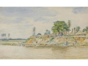 Village aux iles Caïmans.