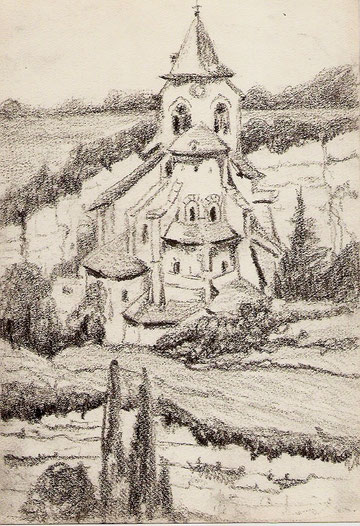 Eglise de Bozouls dans l'Aveyron.