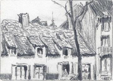 Anvers, Quartier des brasseurs en 1927.