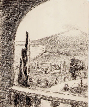 Sicile, l'Etna vue du nord.