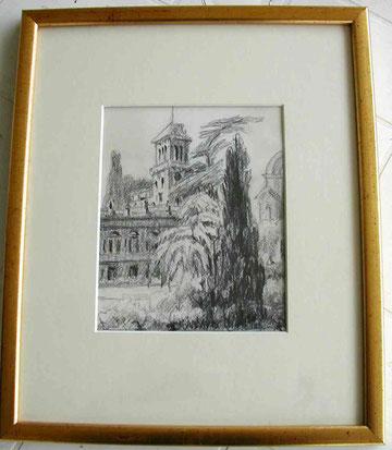 Vue des jardins de la Marquise de ? à Rome en 1929.