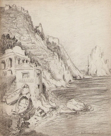 Vue de la côte de Capri.