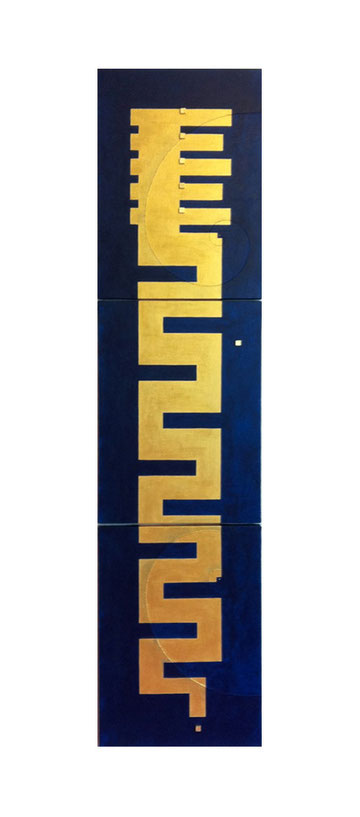 Dragon8  P8×3   333mm×1365mm Acrylic 2011     鎌倉市腰越 龍口明神社 奉納画